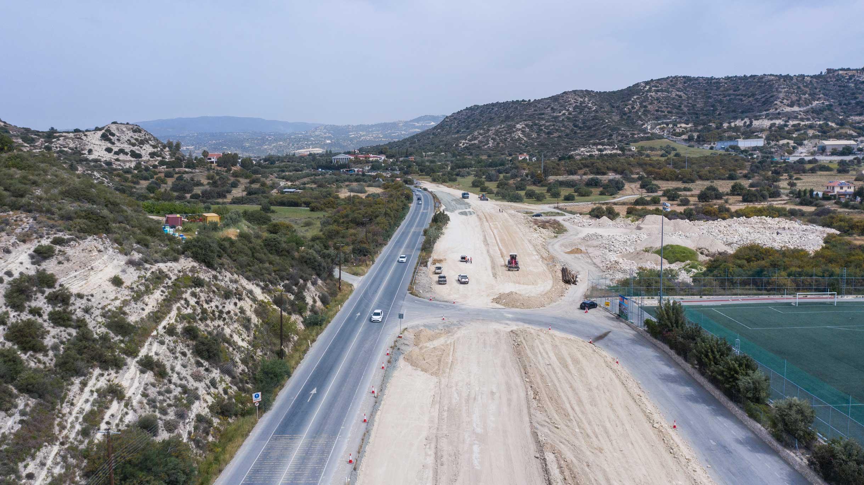 Works on Limassol-Saittas motorway