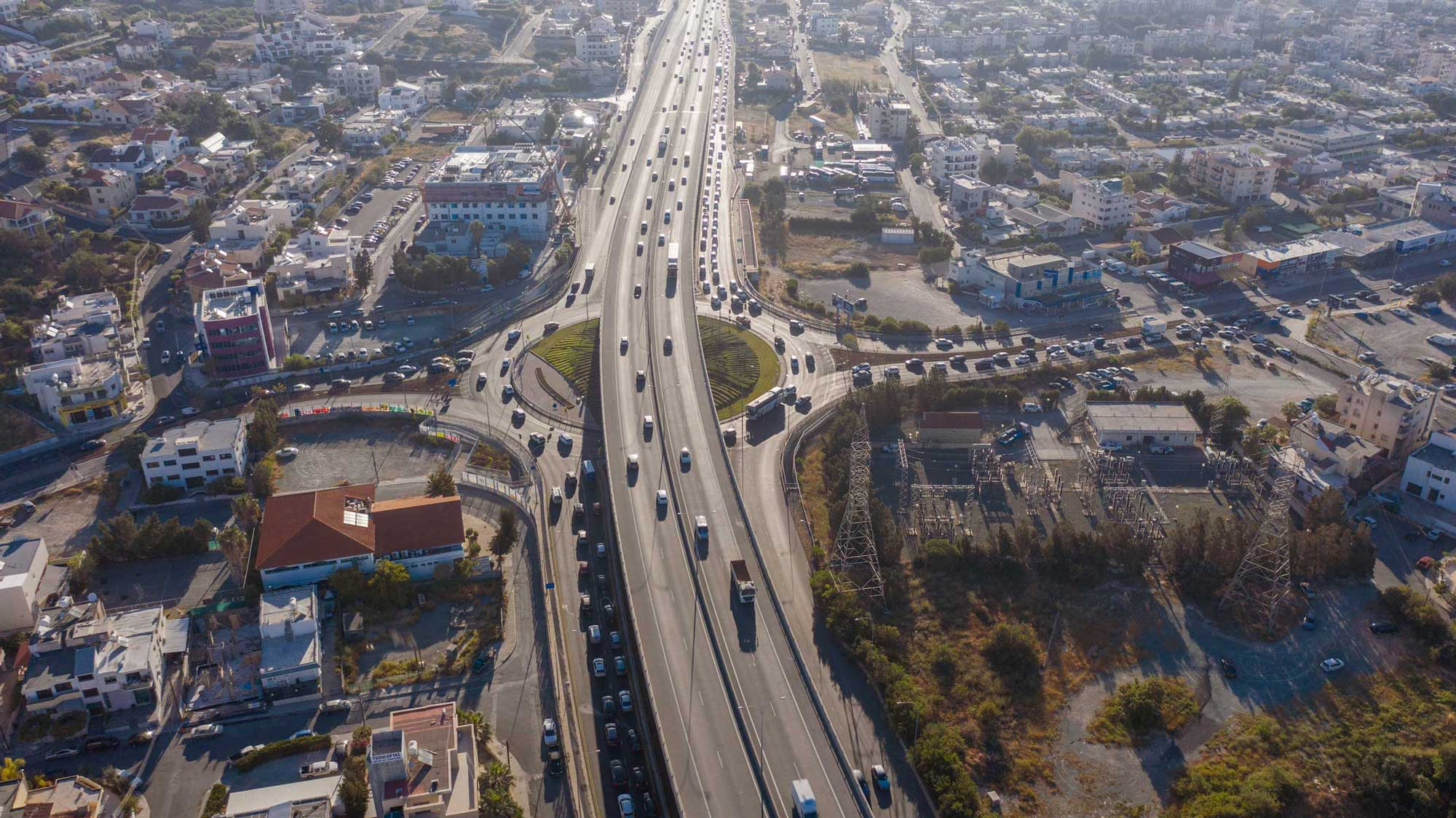 Maintenance of Agias Fylaxeos roundabout in Limassol